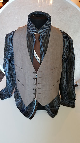 Plaid. wool  Vest made in Italy