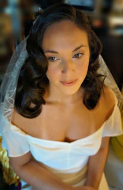 Wedding day hair &  makeup on Sasha