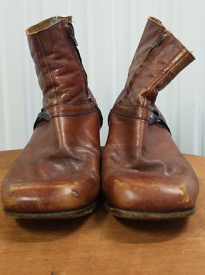 Vintage brown leather size 9 1/2D boots 1980s