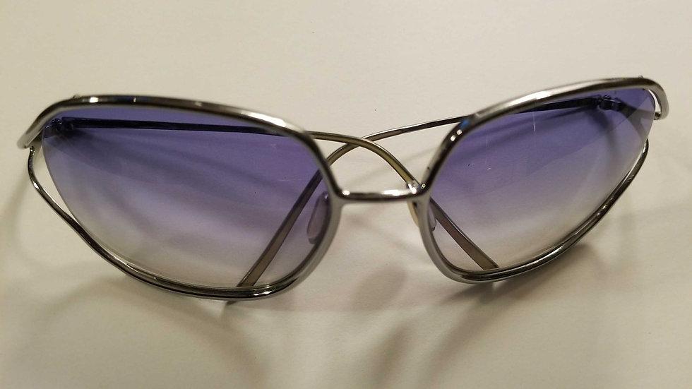 Christian Roth titanium  blue gradient sunglasses