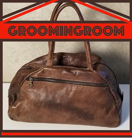Jas M.B.London brown leather traveler bag