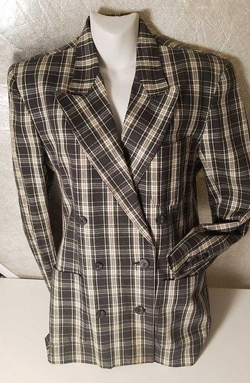 Calvin Klein Vintage Cotton Sport Blazer in Plaid