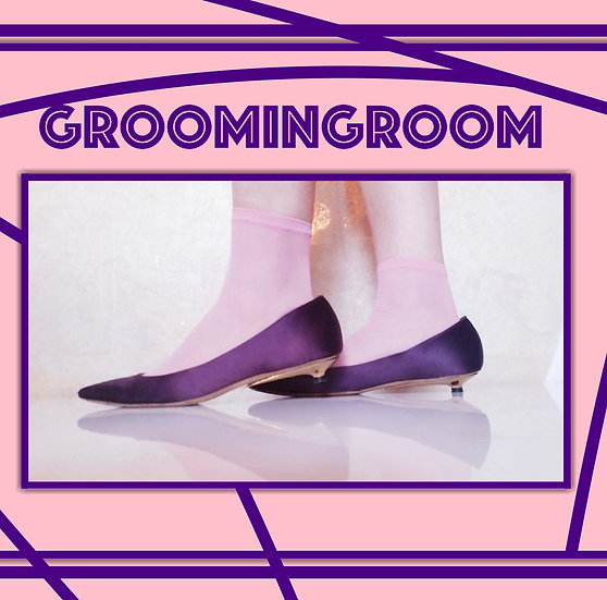 Christian Lacroix purple kitten heels