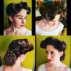 Janine 40's snood hairstyle