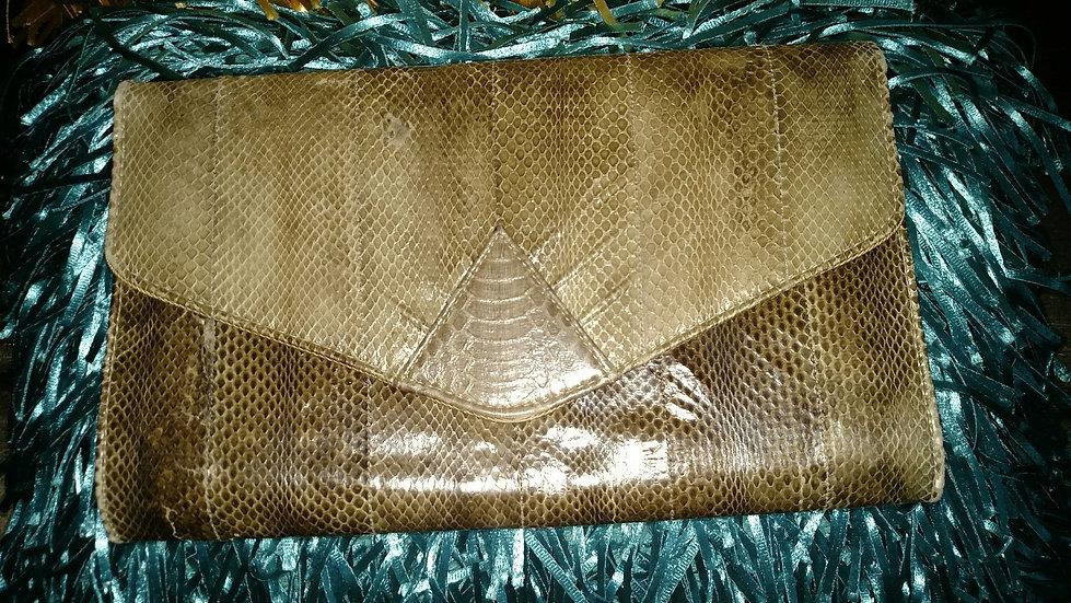 Snakeskin clutch 1980's