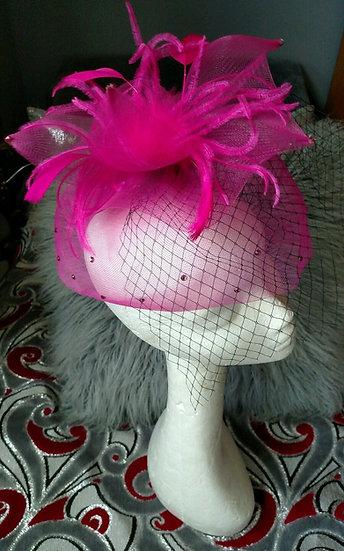 Made in NY Pink Swarowski crystal fascinator holiday-cosplay-burlesque