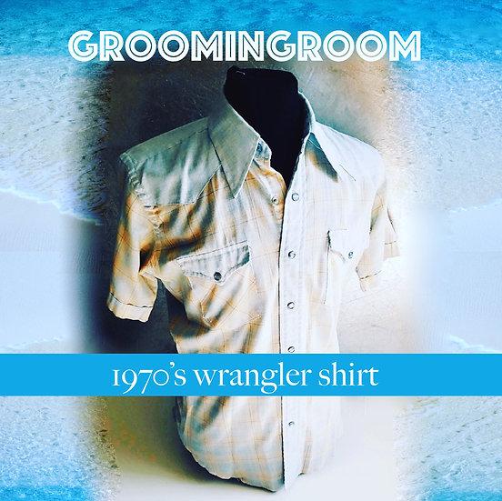 Wrangler 1970's western short sleeve shirt