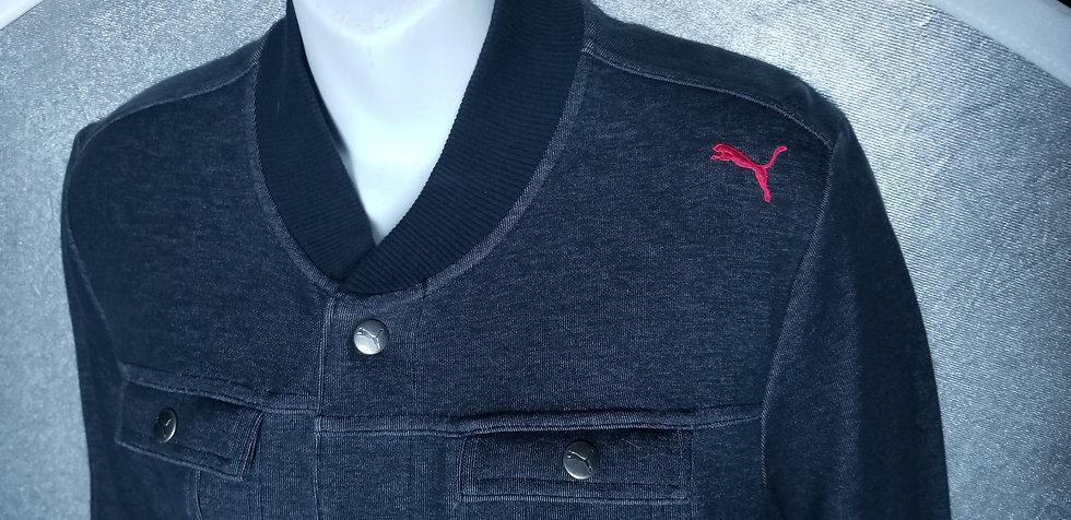 Puma vintage jacket in dark grey with snaps and pockets