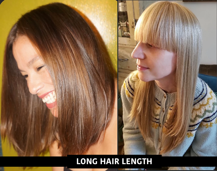 womens long hair-w or wo bangs