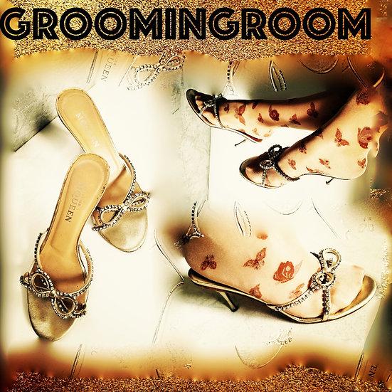Alexander McQueen Swarovski crystal slipper heels