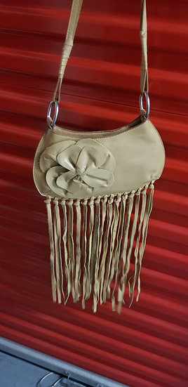 Crossbody fringe leather purse