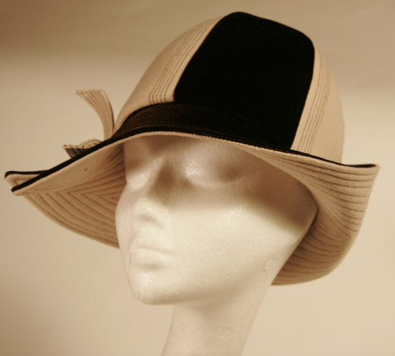 Mr John Classic Iconic Velour 1920's inspired Cloche hat