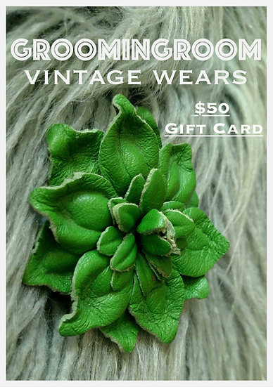 $ 50 Gift Card value for Groomingroom Vintage