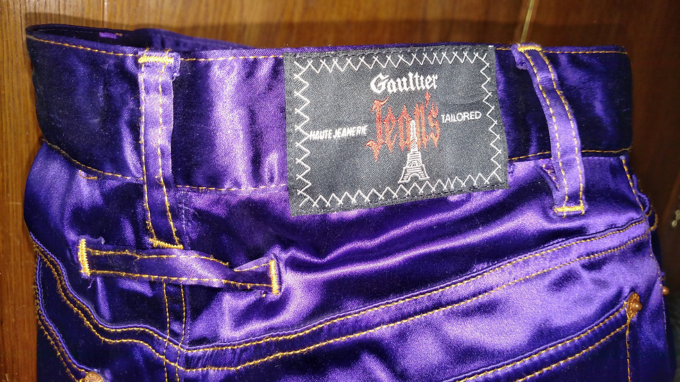 Gaultier Jeans Purple Satin 1980s