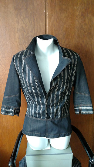 Legatte Jean's Italy beautifully tailored blk denim jacket