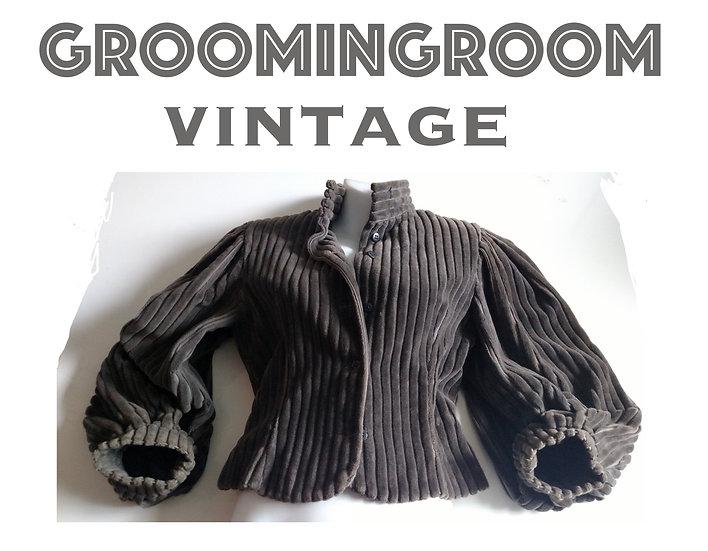 *Perry Ellis grey courderoy jacket