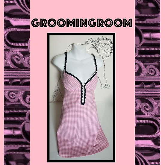 Pink + white corset summer 90's dress