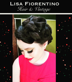 Morgan Upswept hairstyle & makeup