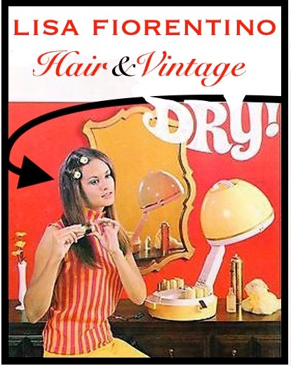 Womens rollerset and beach wave styling under vintage hairdryer
