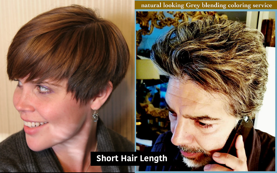 short womens + mens hair
