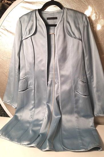 Yigal Azrouël Pastel blue satiny dressy driving jacket