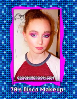 phoebe70s disco makeup-