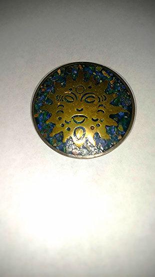 Silver Sunburst brooch