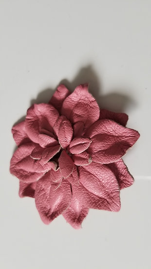 Eugenia Kim 1990's handmade eelskin flower brooch