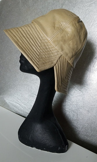 Vintage 90s Kokin leather Tan bucket hat