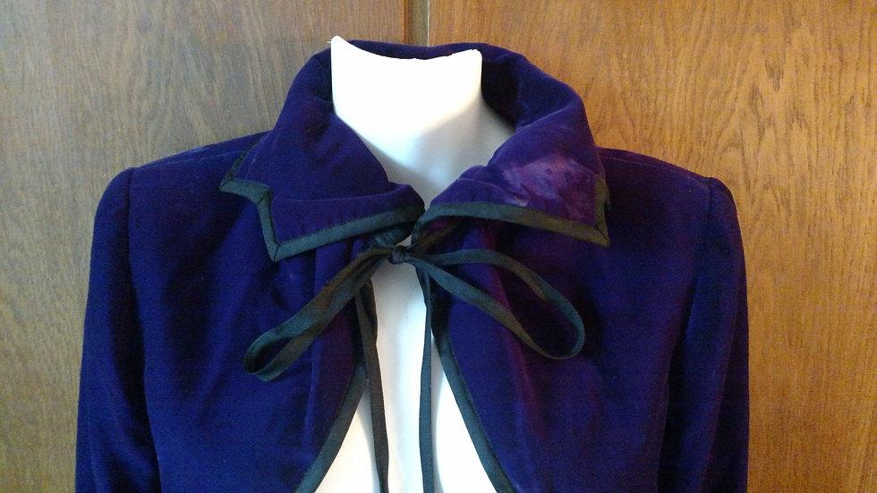 YSL Rive Gauche purple velvet bolero