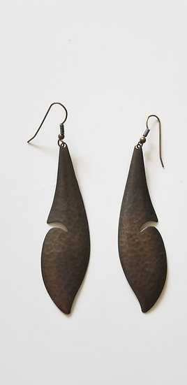Earrings from 1980 brass carved design
