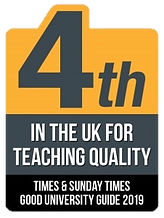 4th in the UK for Teaching Quality