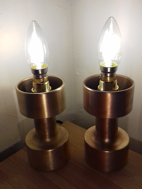 Solid Brass Desk Lamps - Pair
