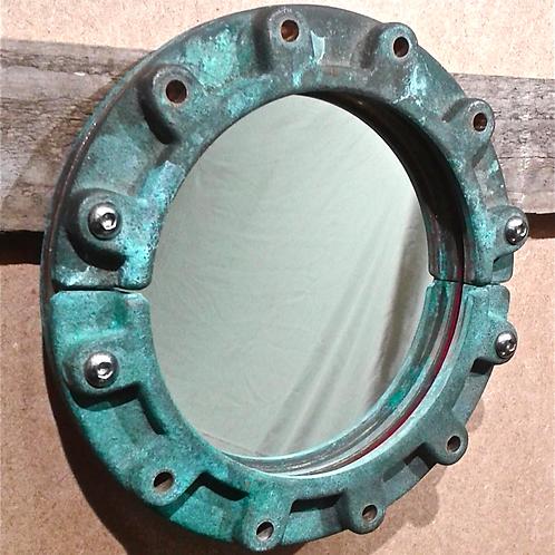 Mirror, Porthole Style, Vintage Brass