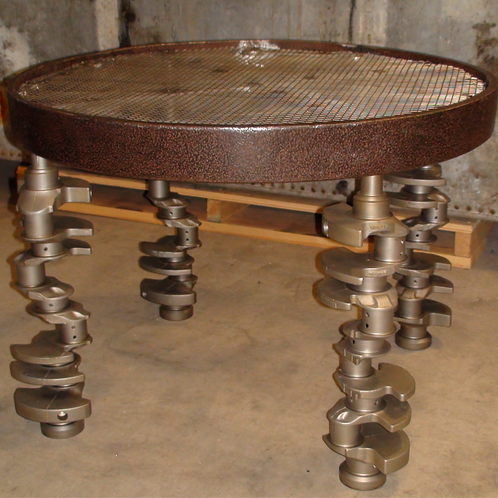 Table, Cast & Stainless Steel (Sold)
