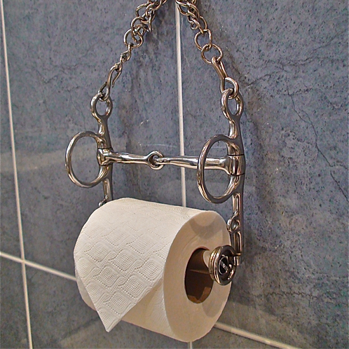 Toilet Roll Holder, Horse Bit, Jointed