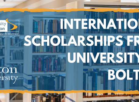 New International Scholarships Offered by the University of Bolton