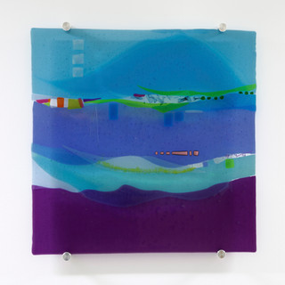 Colourful abstract wall panel
