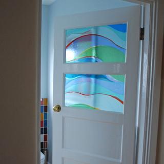 Bathroom door panels