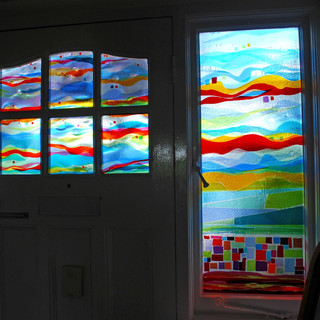 Front door and side window panel