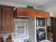 Hotte de cuisine en cuivre
