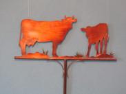 Vache et veau