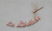 Inscription en cuivre 1m. 30