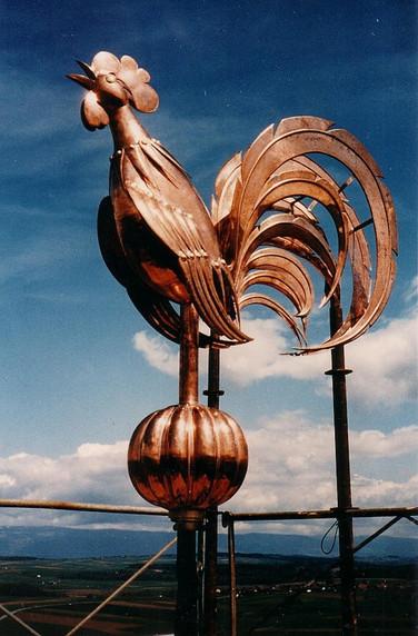 Coq en cuivre de Bottens VD