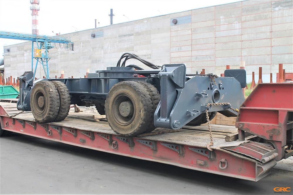 Колёсное шасси MHD от перегружателя металлолома SENNEBOGEN после ремонта