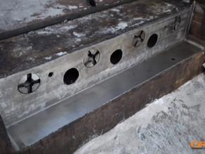 Ремонт посадочных мест в станине пресс-ножниц «TAURUS»