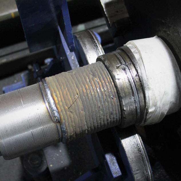 Наплавленная шейка ротора