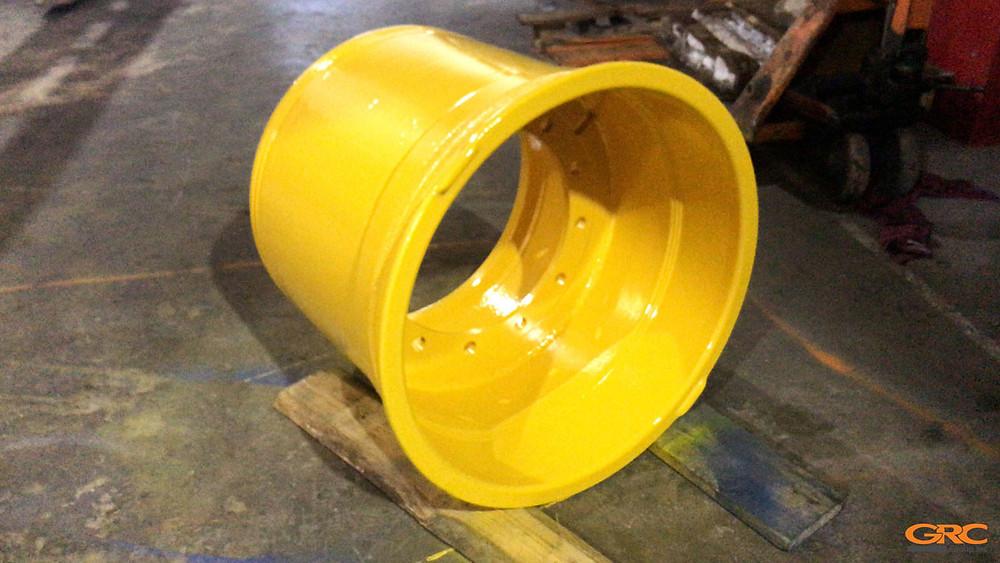 Колёсный диск бульдозера после замены внутреннего фланца