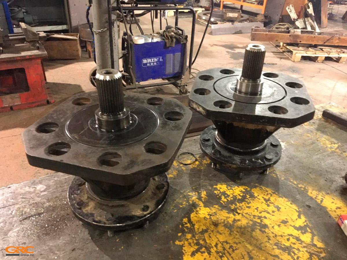 Ступицы TEREX TSV-50 после ремонта
