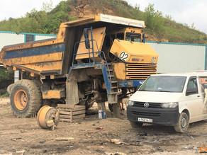 Восстановление балки БелАЗ 7547 на выезде